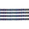 Delica 8/0 Rd Black Aurora Borealis